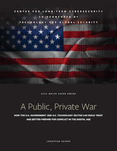 "Cover of ""A Public, Private War"""