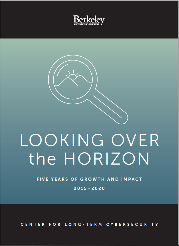 Cover of CLTC's report, Looking Over the Horizon: Five Years of Growth and IMpact